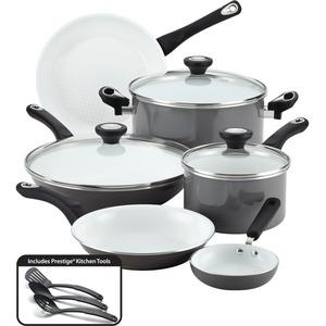 Farberware 12-Piece Cookware Set, Gray