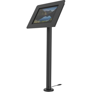 RISE The New Kiosk Stand with Vesa Mount Flip&Swivel with Cable Management - 60 cm height Black