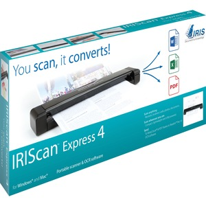 I.R.I.S. IRIScan Express 4 Sheetfed Scanner - 1200 dpi Optical