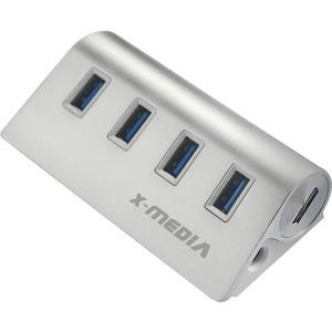 X-MEDIA XM-UB3004A 4-Ports SuperSpeed USB3.0 Hub with AC Adapter