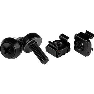 50PK M5 X 12MM SCREWS & CAGE NUTS BLK