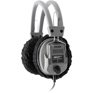 "Hamilton Buhl Disposable Sanitary Ear Cushion Covers (4.5"" Black 50 Pairs)"