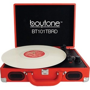 boytone Mobile Briefcase Turntable BT-101TBRD
