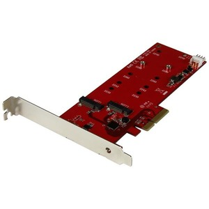 StarTech.com 2x M.2 SSD Controller Card - PCIe - PCI Express M.2 SATA III Controller - NGFF Card Adapter