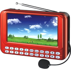QFX PD-43 Red Flash Portable Media Player