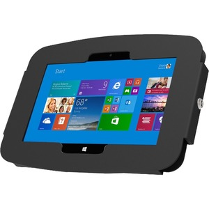 """Surface Pro 3/Pro 4 (12"""") Secure Space Enclosure Wall Mount Black"""
