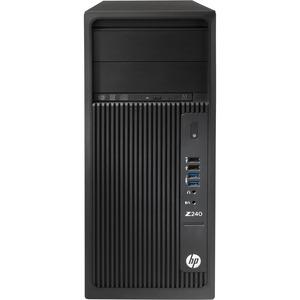 HP Z240 Workstation - 1 x Intel Xeon E3-1270 v5 Quad-core (4 Core) 3.60 GHz - 16 GB DDR4 SDRAM - 2 TB HDD - 256 GB SSD - NVIDIA Quadro K2200 4 GB Graphics - Windows 7 Professi ...(more)