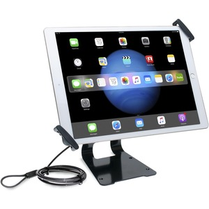 """CTA Digital Adjustable Anti-Theft Security Grip and Stand for Large Tablets 9.7"""" - 14"""""""