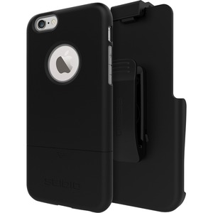 Seidio SURFACE Carrying Case (Holster) for iPhone 6, iPhone 6S - Black/Gray