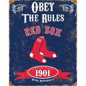 Party Animal Boston Red Sox Embossed Metal Sign