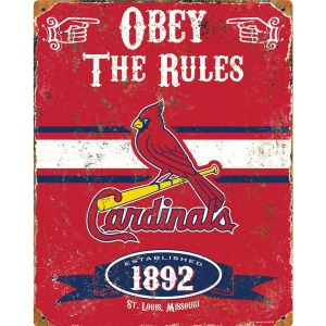 Party Animal St. Louis Cardinals Embossed Metal Sign