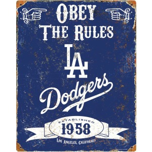 Party Animal Los Angeles Dodgers Embossed Metal Signs