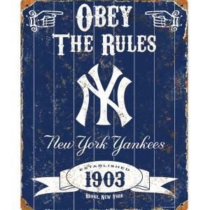 Party Animal New York Yankees Embossed Metal Sign