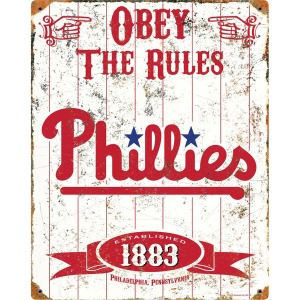 Party Animal Philadelphia Phillies Embossed Metal Signs