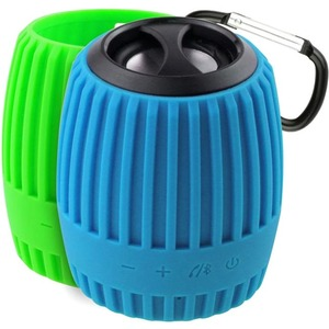 Xtreme Cables Durapod Speaker System - Portable - Battery Rechargeable - Wireless Speaker(s) - Blue, Green