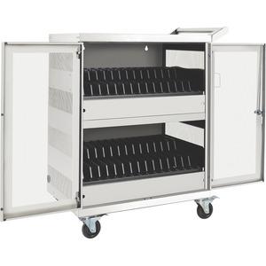Tripp Lite 32-Port AC Charging Cart Storage Station Chromebook Laptop White