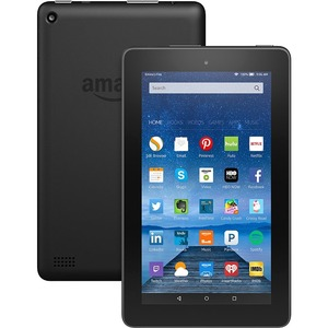 """Amazon Fire B018Y22BI4 Tablet - 7"""" - 1 GB Quad-core (4 Core) 1.30 GHz - 16 GB - Fire OS 5 - 1024 x 600 - In-plane Switching (IPS) Technology - Black"""
