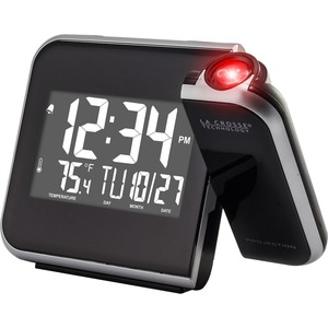 La Crosse Technology 616-1412 Projection Alarm Clock with Indoor Temperature