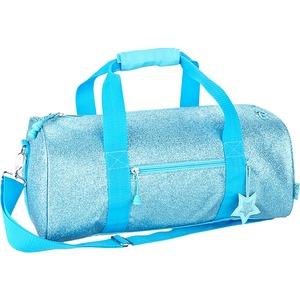Bixbee Sparklicious Kids Glitter Large Duffle Bag - Turquoise