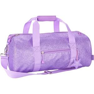Bixbee Sparklicious Kids Glitter Large Duffle Bag - Purple
