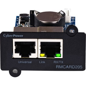 CyberPower TAA Compliant RMCARD205 UPS & ATS PDU Remote Mgmt Card - SNMP/HTTP/CLI/NMS/Enviro Port