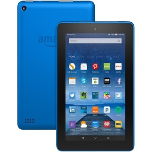 """Amazon Fire B018Y225IA Tablet - 7"""" - 1 GB Quad-core (4 Core) 1.30 GHz - 16 GB - Fire OS 5 - 1024 x 600 - In-plane Switching (IPS) Technology - Blue"""