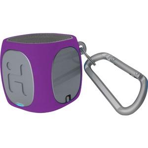 iHome Speaker System - Portable - Battery Rechargeable - Wireless Speaker(s) - Purple, Gray
