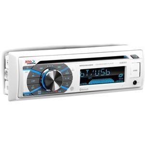BOSS AUDIO MR508UABW Marine Single-DIN CD Player, Receiver, Bluetooth, Wireless Remote