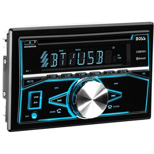 BOSS AUDIO 850BRGB Double-DIN CD/MP3 Player, Receiver, Bluetooth, Wireless Remote