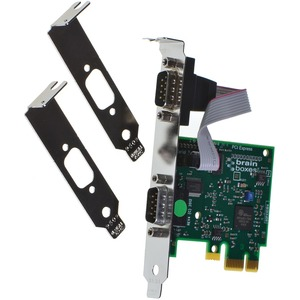 Brainboxes 2 Port PCI Express RS232 Serial Adaptor Dual Profile