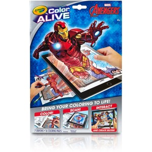 Crayola Color Alive Virtual Coloring Book, Marvel Avengers