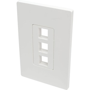 Tripp Lite Single-Gang 3-Port Wall Plate Keystone Cat5/6 USB HDMI Dport RCA