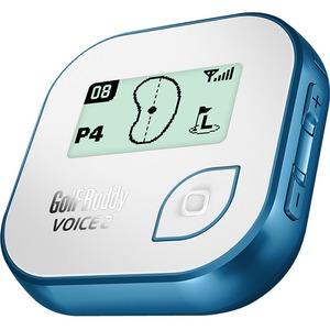 GolfBuddy Voice 2 Golf GPS Navigator - Blue, White - Wrist, Mountable