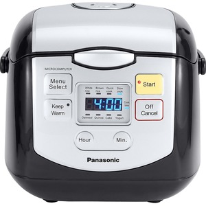 Panasonic 4 Cup (uncooked) Microcomputer Controlled Rice Cooker -Black / Silver- SR-ZC075K