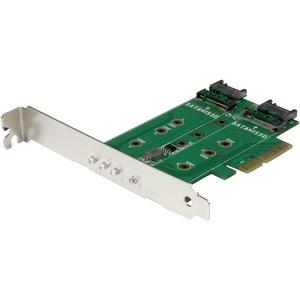 StarTech.com 3-Port M.2 SSD (NGFF) Adapter Card - 1 x PCIe (NVMe) M.2, 2 x SATA III M.2 - PCIe 3.0 - PCI Express 3.0 M.2 NGFF Card