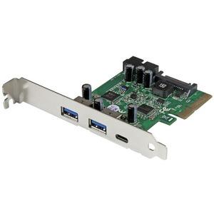 StarTech.com 5 Port USB 3.1 (10Gbps) Combo Card - 1x USB-C, 2x USB-A + 2x IDC (5Gbps) - PCIe USB Host Controller - USB Type-C