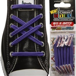 U-Lace Classic No-Tie Customized Sneaker Shoe Laces 50 Colors Mix & Match 6 Pcs.