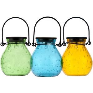 Allsop Home & Garden Bubble Glass Solar Lantern - Turquoise