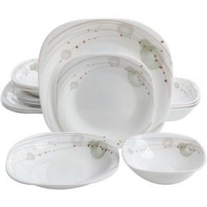 Oster Stargaze 16 Piece Double Bowl Dinnerware Set - Chip Resistant