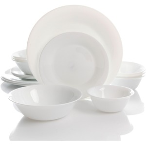 Oster Della 16 Piece Double Bowl Dinnerware Set - Chip Resistant