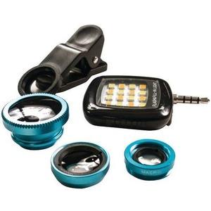 PoserSnap 98500 Mobile 3-in-1 Clip Lens & Photo & 16-LED Light Set