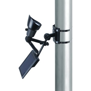 Coleman Cable 92320 Premium Output Solar Powered LED Flagpole Light, Black Finish