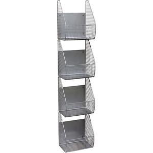 Spectrum Wall Mount 4-Tier Vertical Basket Rack