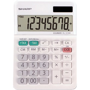 Sharp EL-310WB 8 Digit Professional Mini-Desktop Calculator