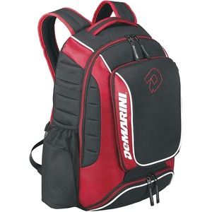 DeMarini Momentum Carrying Case (Backpack) for Bottle, Gear, Cellular Phone, Bat, Shoes, Helmet, Glove - Black