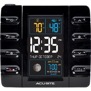 AcuRite Intelli-Time Projection Clock with Outdoor Temperature and USB Charger