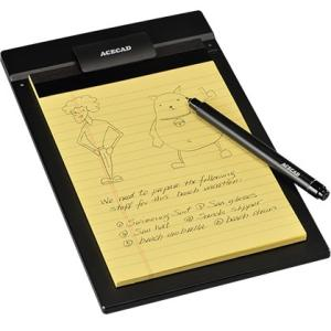 ACECAD PenPaper 5x8 Digital Notepad for iPad, Black