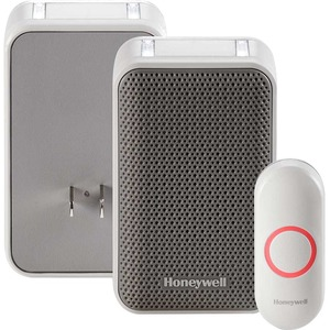 Honeywell 3 Series Plug-In Wireless Doorbell with Strobe Light & Push Button - RDWL313P
