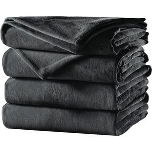 Sunbeam Twin Velvet Plush Heated Blanket, Slate