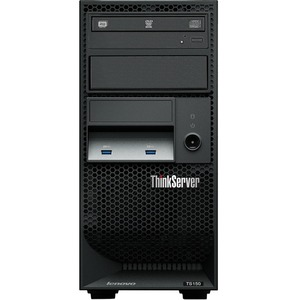 Lenovo ThinkServer TS150 70LV0031UX Tower Server - 1 x Intel Xeon E3-1225 v5 Quad-core (4 Core) 3.30 GHz - 8 GB Installed DDR4 SDRAM - Serial ATA/600 Controller - 0, 1, 5, 10 ...(more)
